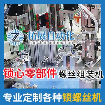 锁具锁芯自动锁螺丝设备吸气转盘式螺丝机视频案例
